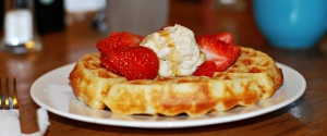Fresh Waffle with Dairy Free Ice Cream
