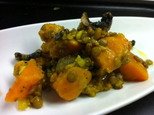 Lentils with Butternut Squash & Portabella Mushroom from FeedRight 4 People
