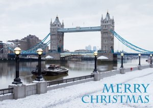 Christmas in London with Snow