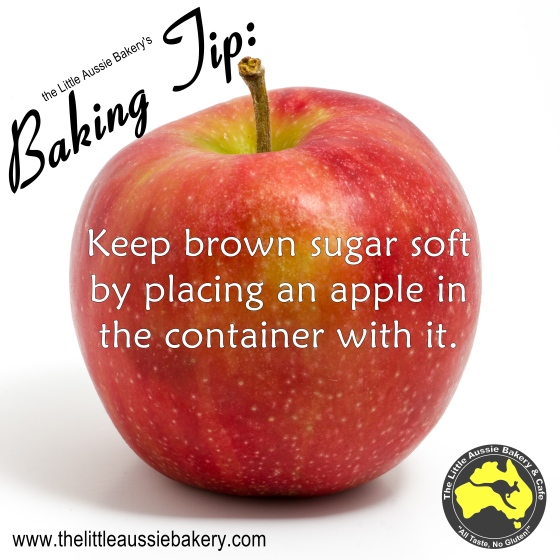 Keep brown sugar soft with an apple in the bag!