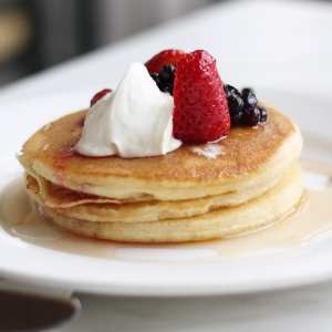 gluten free pancakes with dairy free whipped cream